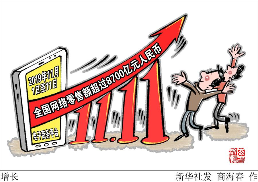 ȫ���ֲ�Ʊ�������ٷ���ַ22270.COM_8700亿元!今年双11期间我国网络零售额增长26.7%