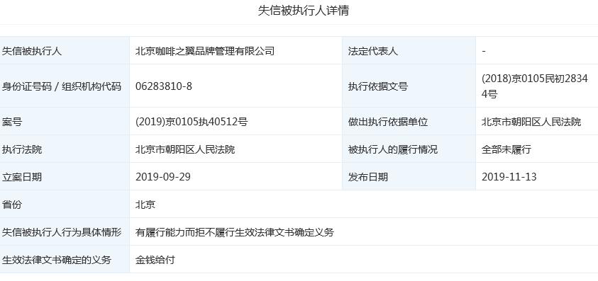 彩票网站源码 dede_咖啡之翼旗下公司成老赖 何炅陈欧名列前十大股东