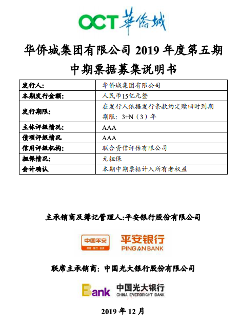 """幸运快三豹子,华侨城近2000亿债务压顶 频""""卖子""""后急发债15亿""""补血"""""""