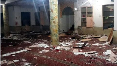 突发!巴基斯坦一清真寺爆炸致12死12伤 现场一片狼藉