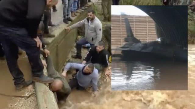"""暴雨袭来却没撤离,以色列8架F-16战机""""泡汤""""受损"""