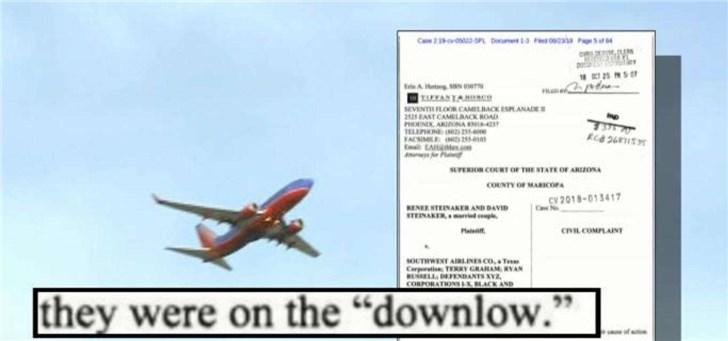 """美西南航司空姐指控飞行员:用iPad""""直播""""他人上厕所"""