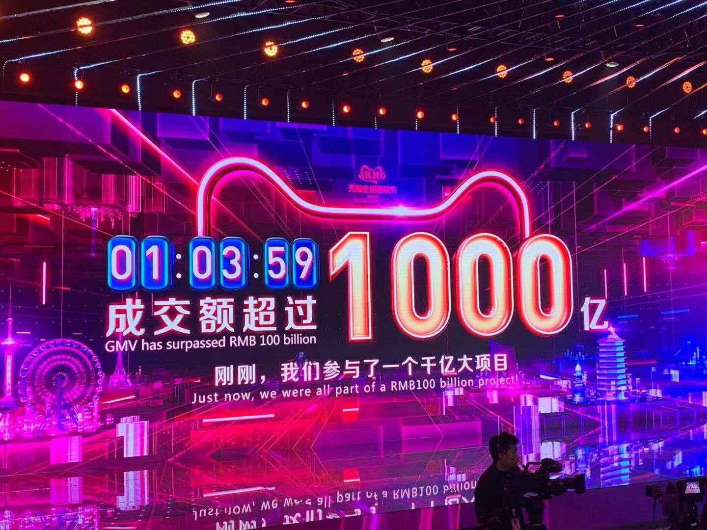 第11个天猫双十一,63分59秒成交额破1000亿