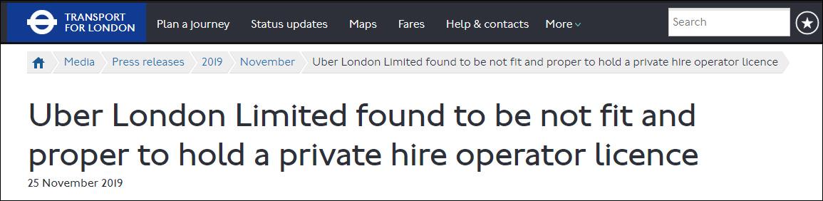 """""""假司机""""接了14000单,优步伦敦运营执照续签被拒"""