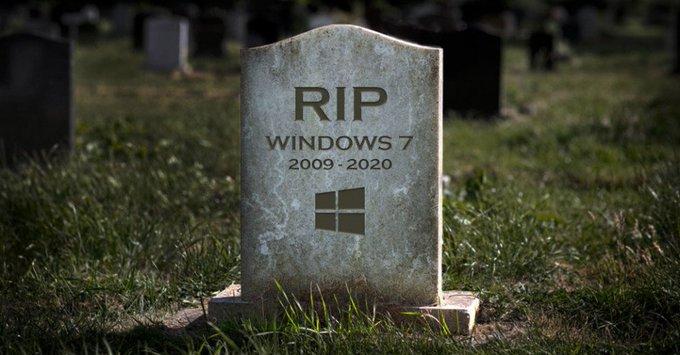 """服役10年的Windows7""""寿终正寝"""" 网友花式祭奠"""