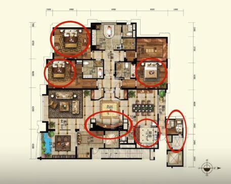 疑似故宫女主豪宅公开:宫殿式三进门设计 浴缸比床大