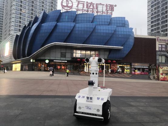 """全国首个测温巡逻机器人走上""""抗疫"""" 这家公司研发"""