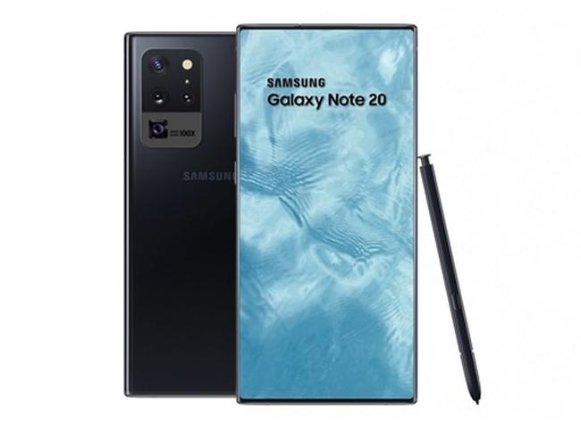 三星Galaxy Note 20首度曝光,或采用屏下摄像头方案