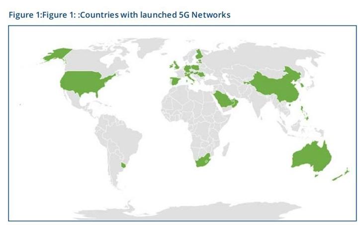 GSA报告:全球已有63家运营商推出商用5G服务