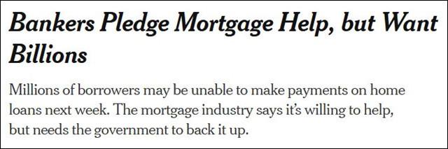 受失业潮冲击,美国房贷延期还款申请激增近2000%