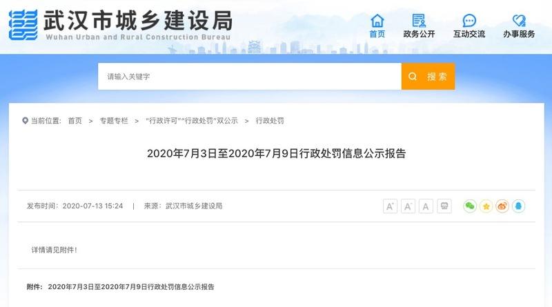 复地集团武汉东湖国际八期项目涉违规施工被