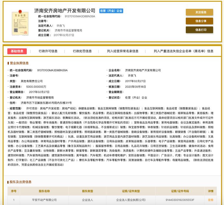 济南安齐房地产未组织竣工验收擅自交付使用被罚