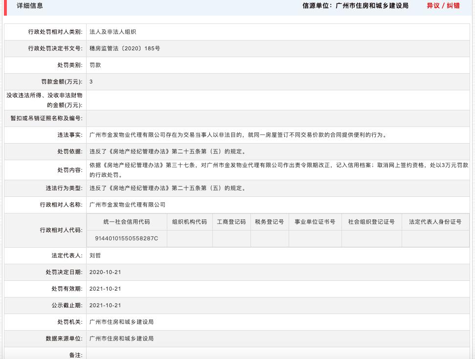 广州金发物业代理公司因非法目的交易违反《