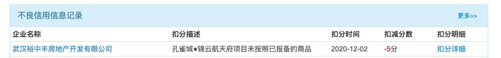 武汉孔雀城锦云航天府项目违规销售商品房开