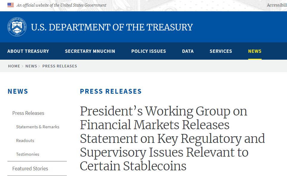 脸书Libra推出之际 美国表态:稳定币或对国际货币稳定构成威胁