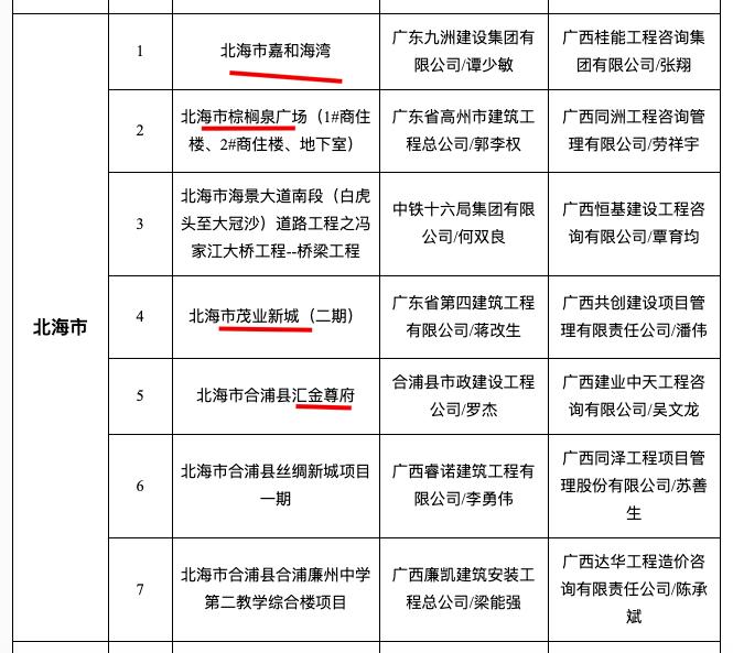 """嘉和海湾、棕榈泉广场、茂业新城等4项目入选北海12月""""严管工程""""名单被通报"""