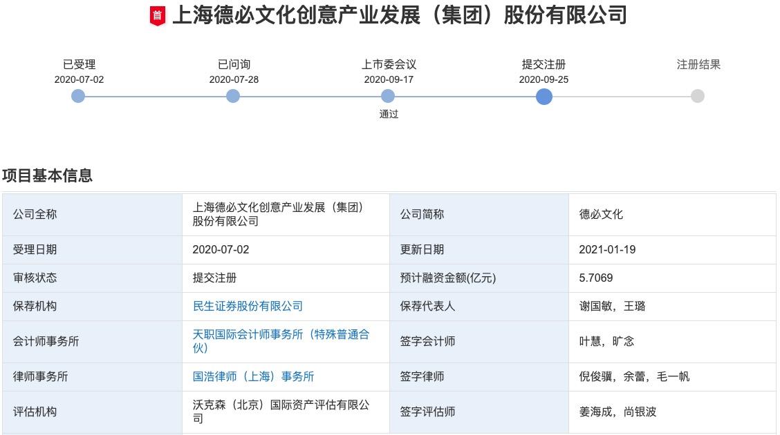 德必文化创业板IPO提交注册申请:短期偿债压力较大 边理财边融资