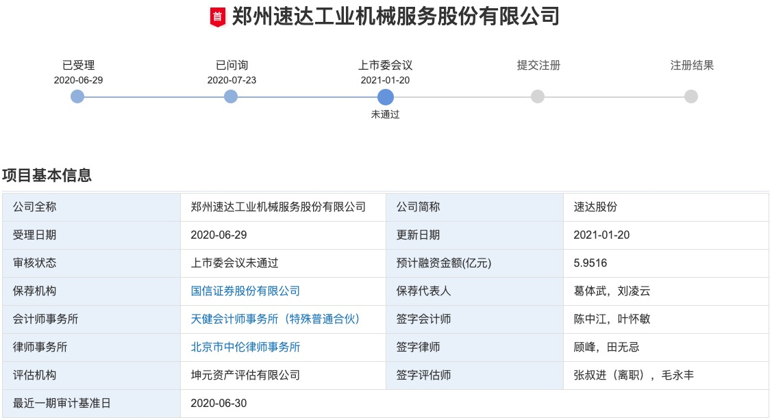 """速达股份创业板IPO被否:归母净利润""""过山车"""" 关联交易数额较大被关注"""