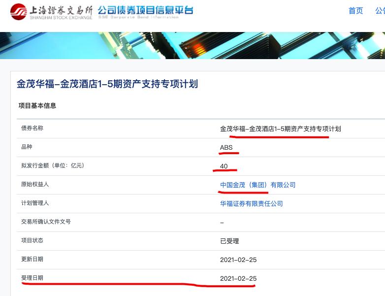 中国金茂40亿元ABS获上交所受理 其去年净