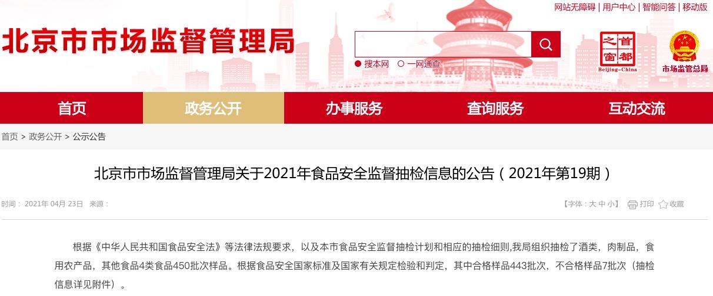 北京抽检7批次食品不合格,京味斋、海底捞旗下公司等上榜
