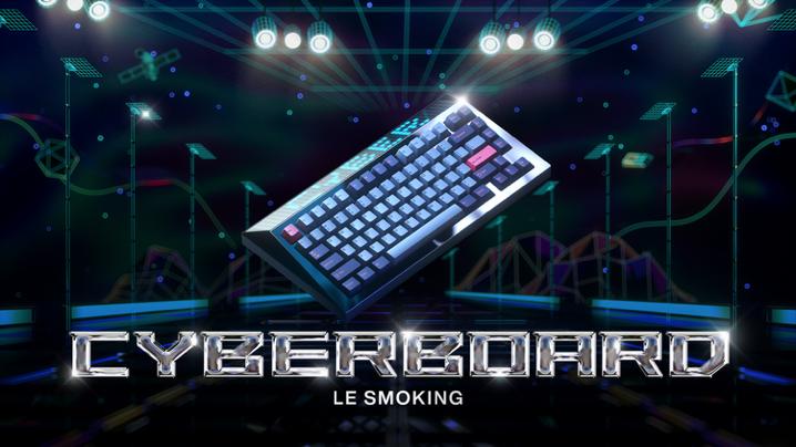 怒喵科技 Angry Miao 发布 CYBERBOARD Le Smoking,致敬圣罗兰经典亮雾面对撞设计