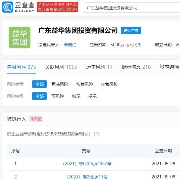 """小霸王被法院强制执行1.1亿元 曾""""被申请破产"""""""