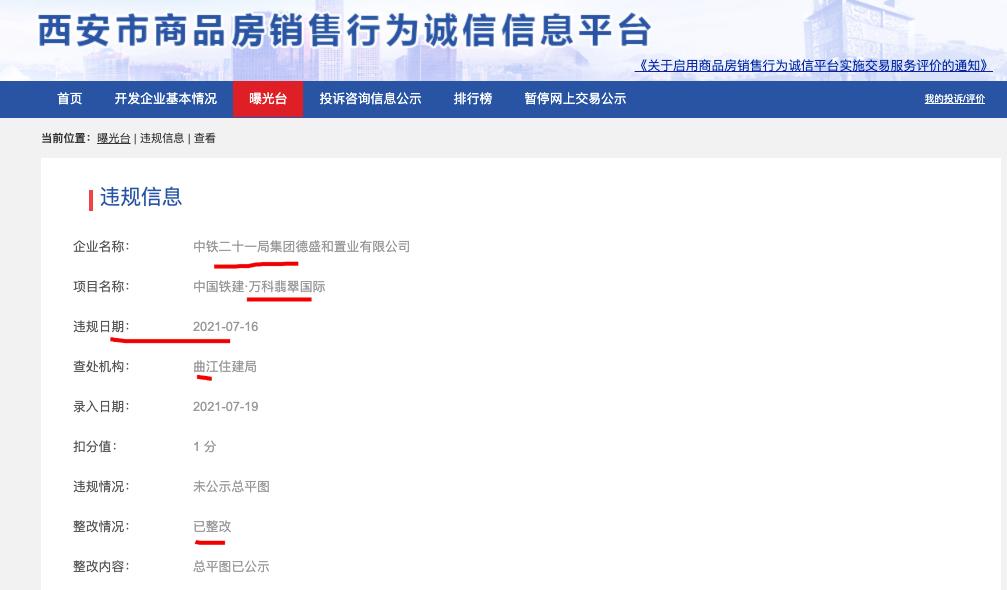 中国铁建-万科翡翠国际项目违规被查处