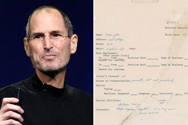 4年升值17倍 乔布斯1973年求职信拍出34.3万美元