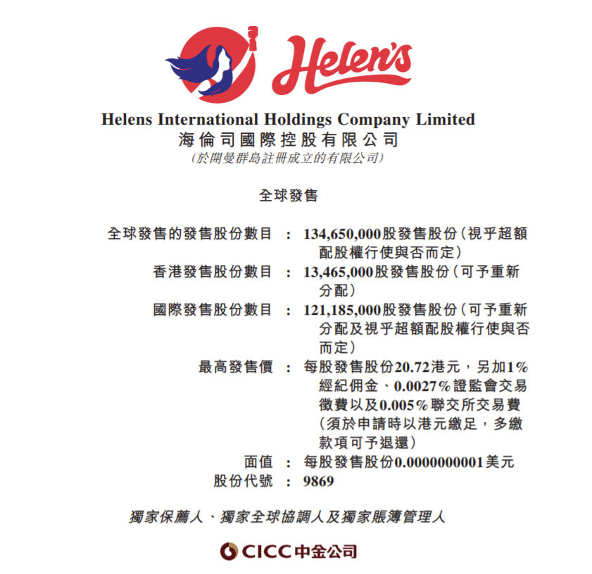 中国最大连锁酒馆海伦司国际本周五上市 中金为独家保荐人