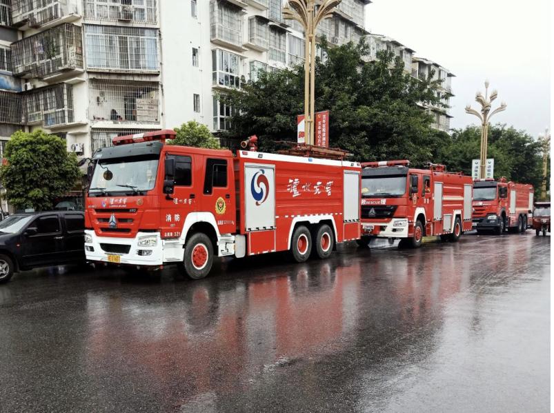 泸州老窖第一时间集结消防队 驰援泸县抗震救灾